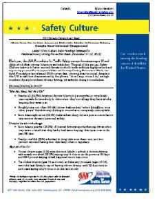 FACT SHEET: Safety Culture - 2013 Drowsy Driving Fact Sheet