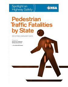 REPORT: Pedestrian Traffic Fatalities by State, 2013