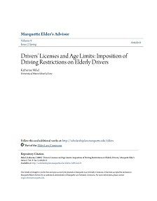 REPORT: Licenses and Age Limits: Restrictions on Elderly Drivers