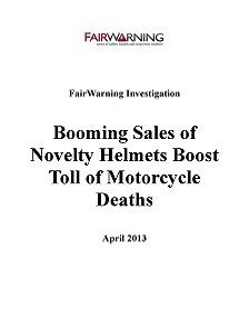 REPORT: Sales of Novelty Helmets Boost Toll of Motorcycle Deaths