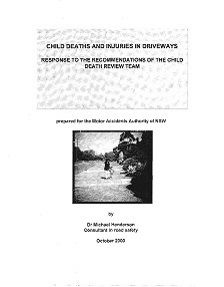 REPORT: Child Deaths and Injuries in Driveways, October 2000