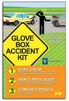 PAMPHLETS: The Glove Box Accident Kit (Bulk order for educators)