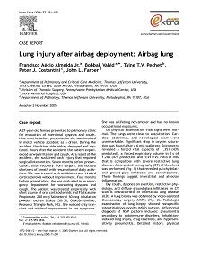 REPORT: Lung Injury After Airbag Deployment: Airbag Lung, 2006