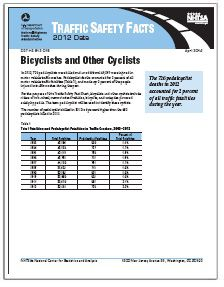 NHTSA REPORT:  2012 Bicycle Accident, Injury & Fatality Statistics