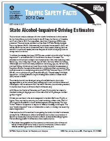NHTSA TRAFFIC REPORT: 2012 State Alcohol Impaired Driving Estimates