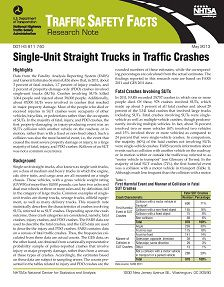 REPORT: Single-Unit Straight Trucks in Traffic Crashes, May 2013