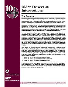 REPORT: Older Drivers at Intersections, 2004