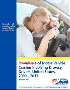 REPORT: Prevalence  of Motor Vehicle  Crashes Involving Drowsy  Drivers, United States,  2009 – 2013