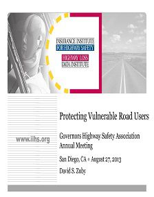 REPORT: Protecting Vulnerable Road Users, August 2013
