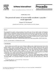 REPORT: Perceived Causes of Severe Accidents: A Psychosocial Approach