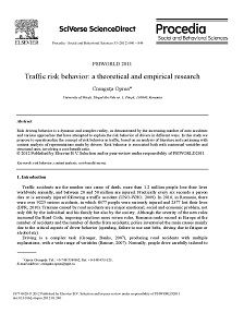 REPORT: Traffic Risk Behavior: A Theoretical and Empirical Research