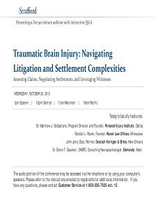 REPORT: Traumatic Brain Injury: Navigating Litigation and Settlements