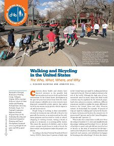 REPORT: Walking and Bicycling in the United States, 2012