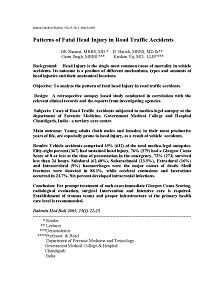 REPORT: Patterns of Fatal Head Injury in Road Traffic Accidents, 2003