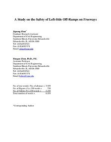 LAST REPORT: A Study on the Safety of Left-Side Off-Ramps on Freeways