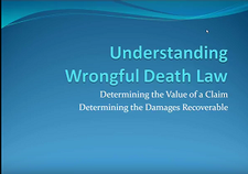 WEBINAR:Understanding Wrongful Death Law In Washington State