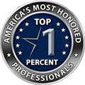 Americas Most Honored Professiontal Top One Percent Badge