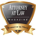 Attorney of the Month Attorney Magazine Badge