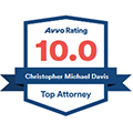Chris Davis AVVO Top Attorney Badge