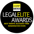 Legal Elite Best Traffic Accident Firm Badge
