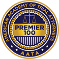 Premier Top 100 American Academy of Trial Attorneys Badge