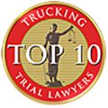 Top 10 Trucking Accident Lawyers Badge