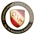 Top One Percent Distinguished Justice Advocates Badge